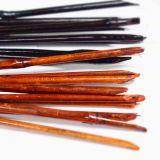 花棒-原竹含節帶青皮削尖染咖啡色